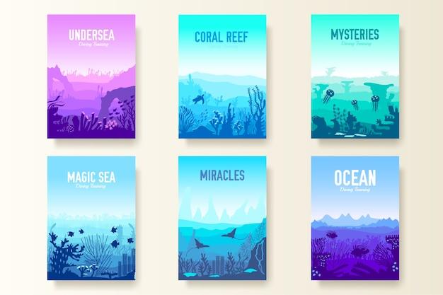 Collection de récifs coralliens dans le modèle de l'océan