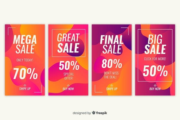 Collection de récits instagram de vente abstraite