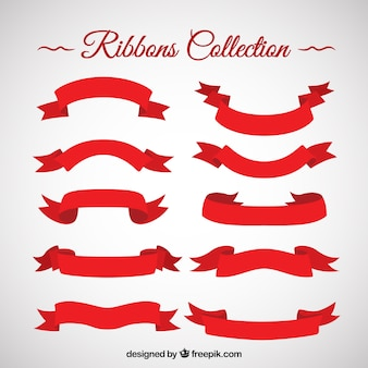 Collection red ruban cru