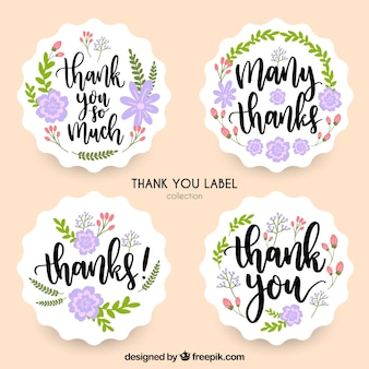 Collection de remerciements floral