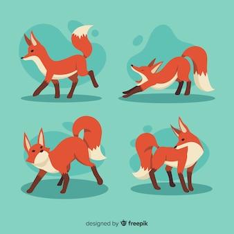 Collection de renard dessiné à la main
