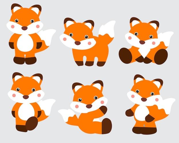 Collection de renards mignons