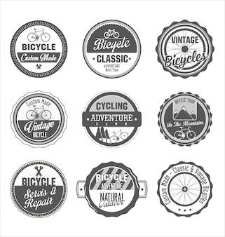 Collection rétro de bicyclette