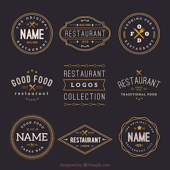Collection rétro de restaurant pour les logos