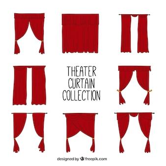Collection des rideaux de théâtre dessinés à la main