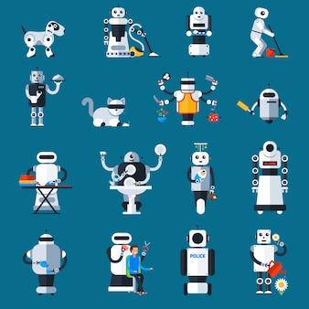 Collection de robots domestiques