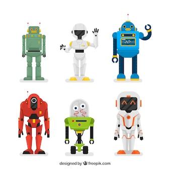 Collection de robots plats