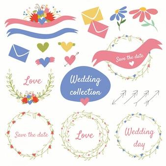 Collection romantique de mariage