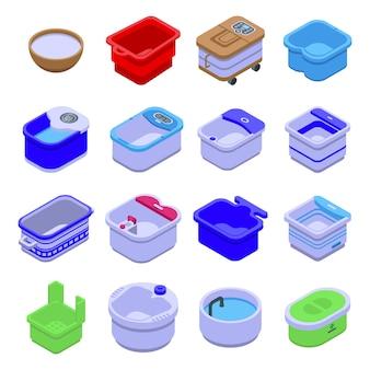 Collection de rondelles de bain de pieds