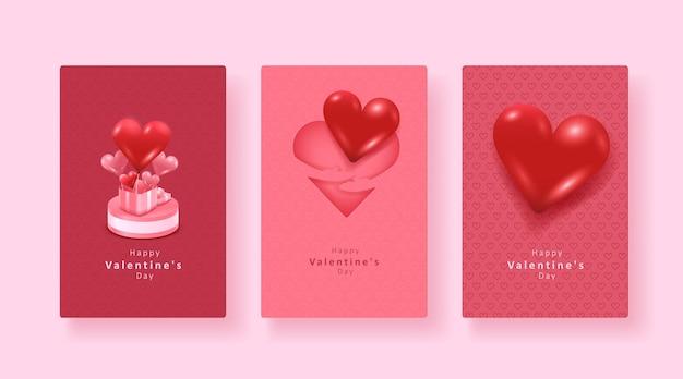 Collection de rose. ensemble de la saint-valentin.