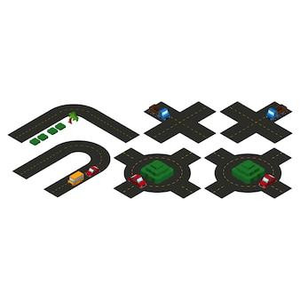 Collection de routes isométriques