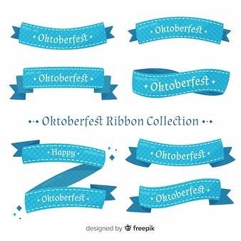 Collection de ruban oktoberfest classique avec un design plat