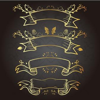 Collection de ruban d'or