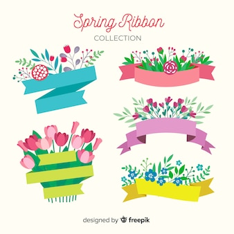 Collection de ruban de printemps