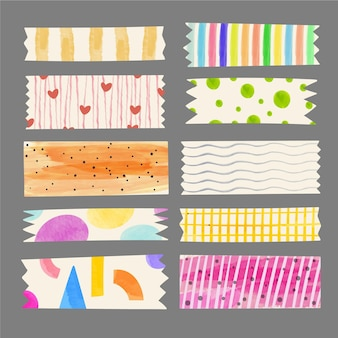 Collection de ruban washi aquarelle