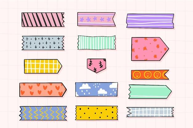 Collection de ruban washi dessiné