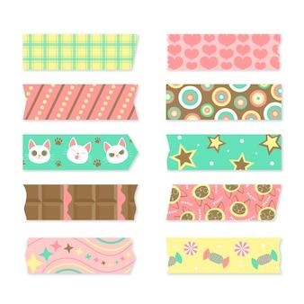 Collection de ruban washi plat