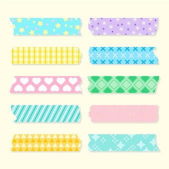 Collection de ruban washi plat