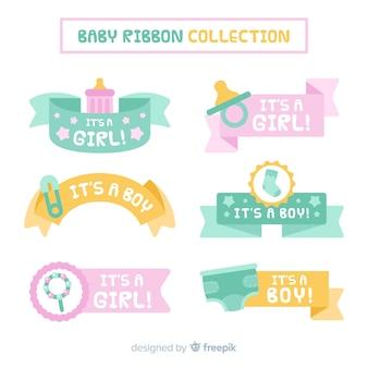 Collection de rubans bébé couleur pastel