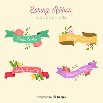 Collection de rubans floraux de printemps
