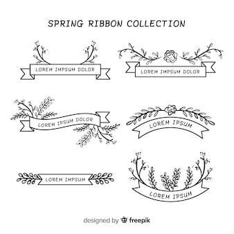 Collection de rubans floraux de printemps