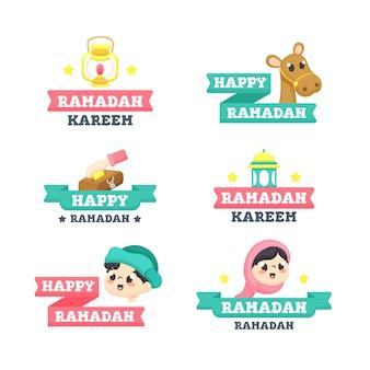Collection de rubans happy ramadan kareem