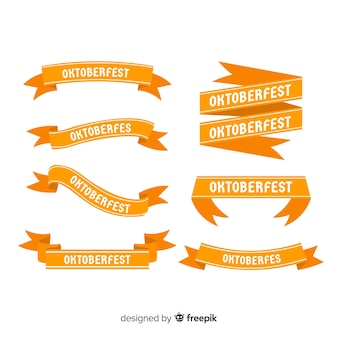 Collection de rubans oktoberfest design plat