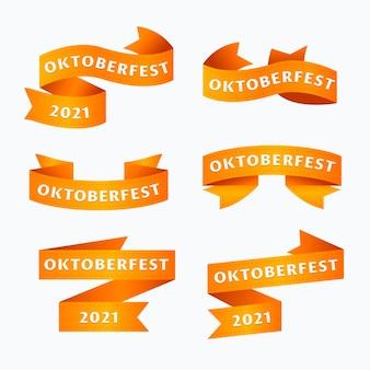 Collection de rubans oktoberfest design plat
