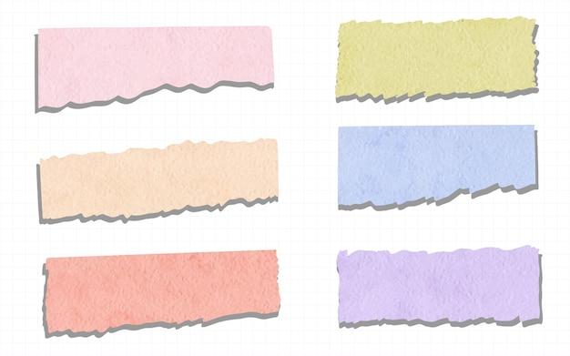Collection de rubans washi à l'aquarelle