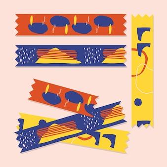 Collection de rubans washi colorés