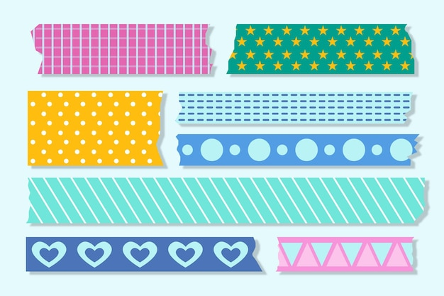 Collection de rubans washi