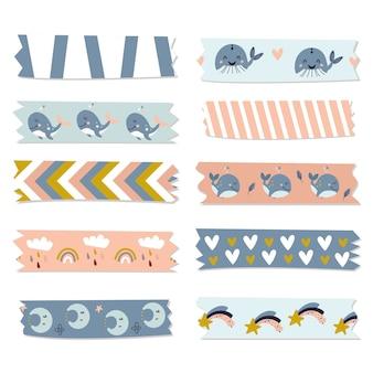 Collection de rubans washi