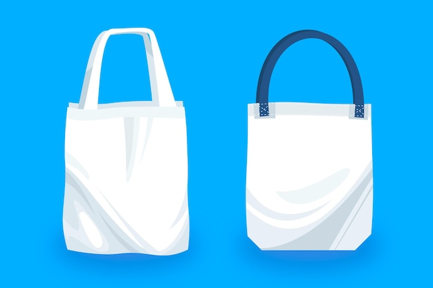 Collection de sacs plats en tissu