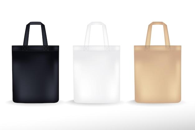 Collection de sacs en tissu réaliste