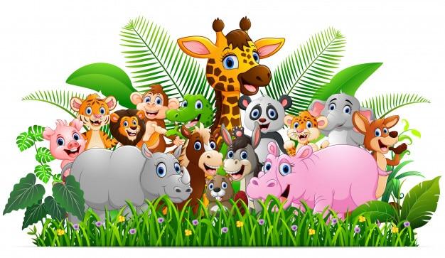 Collection safari d'animaux dans la jungle