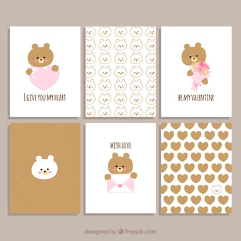Collection saint valentin cartes ours