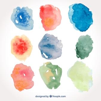 Collection de satin aquarelle coloré