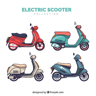 Collection de scooter électrique plat