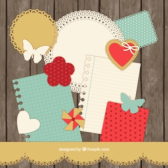 Collection scrapbooking dans le style rétro