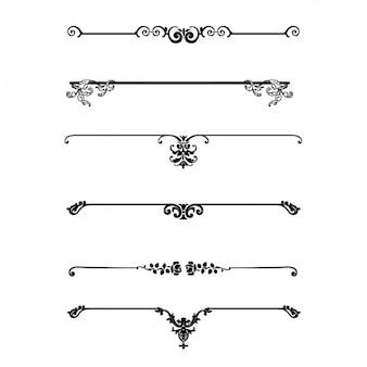 Collection de séparateurs décoratifs
