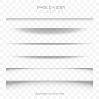 Collection de séparateurs de pages sans arrière-plan
