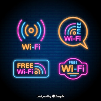 Collection de signal wifi néon