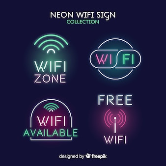 Collection de signal wifi néon