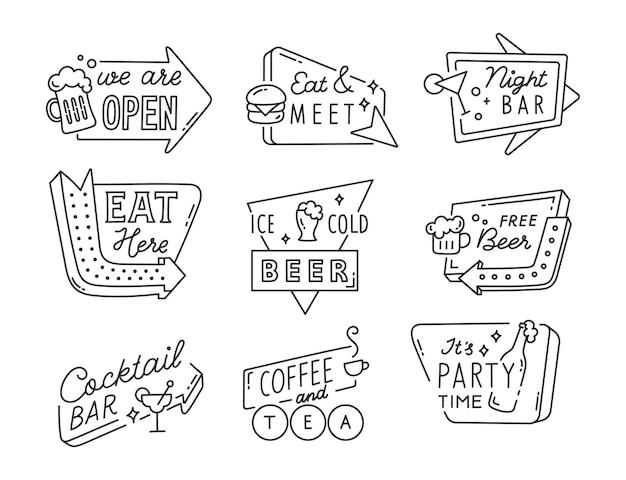 Collection de signes de barre d'art en ligne
