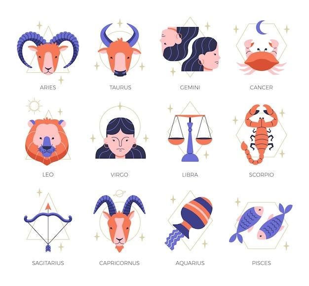 Collection de signes du zodiaque