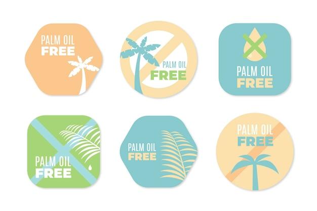 Collection de signes d'huile de palme