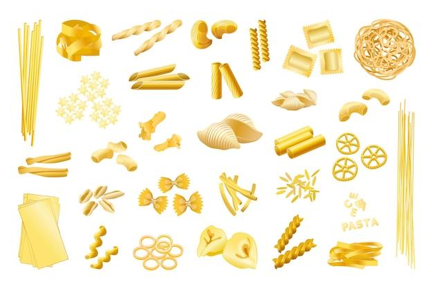 Collection de signes de pâtes
