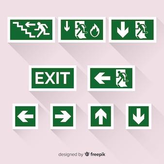 Collection de signes de sortie