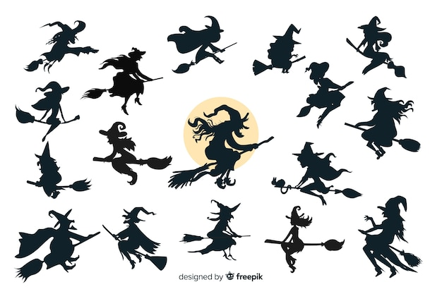 Collection de silhouette d'halloween