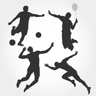 Collection de silhouette de sport